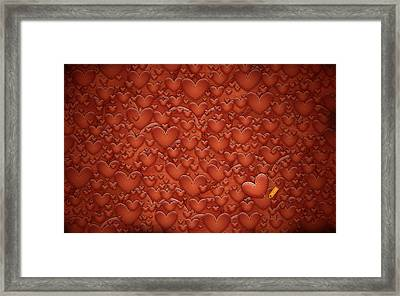Love Patches Framed Print