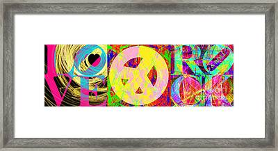 Love Peace And Rock And Roll Return To The Summer Of Love 20140605 Framed Print by Wingsdomain Art and Photography
