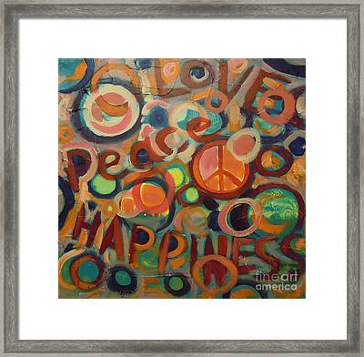Love Peace Happiness Framed Print