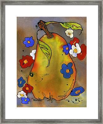 Love Pear  Framed Print by Blenda Studio