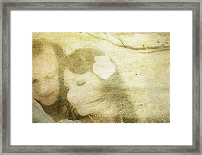 Love Poem Framed Print by Jenny Rainbow