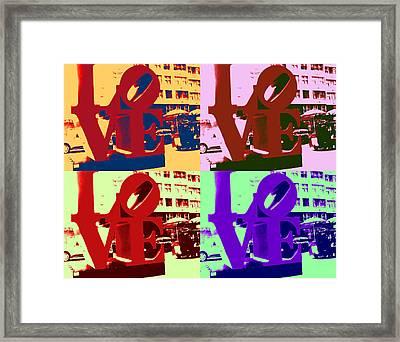 Framed Print featuring the digital art Love Pop Art II by J Anthony