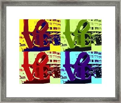 Love Pop Art Framed Print