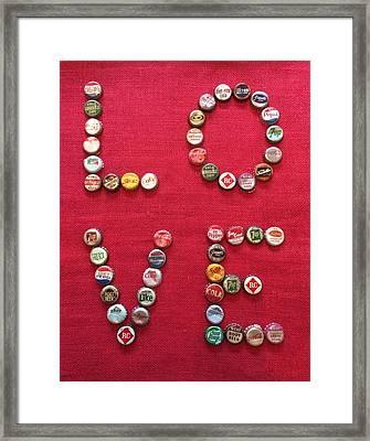 Love Pop Framed Print