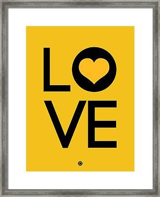 Love Poster 1 Framed Print by Naxart Studio