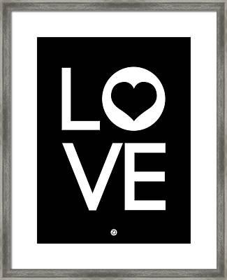 Love Poster 6 Framed Print by Naxart Studio