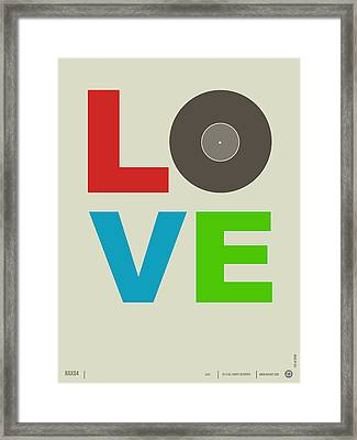 Love Poster Framed Print