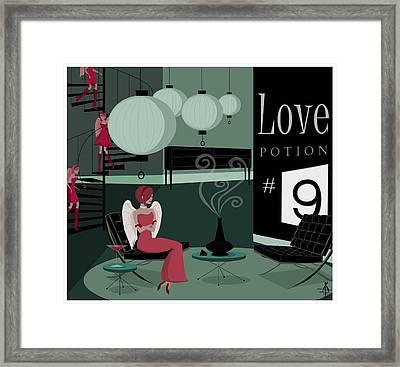 Love Potion No9 Framed Print by Kate Paulos
