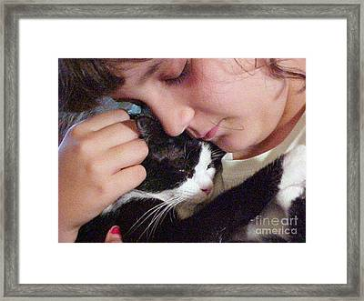 Love Precious Love Framed Print by Robert Stagemyer