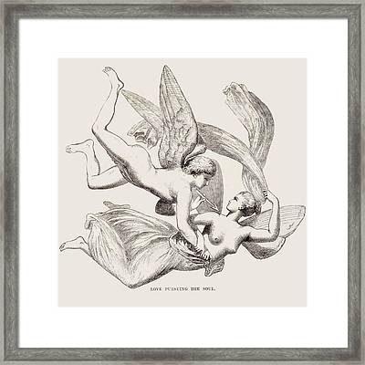 'love Pursuing The Soul' - What Appears Framed Print