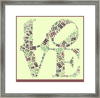 Love Quatro - Gr01b Framed Print by Variance Collections