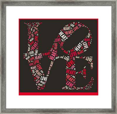 Love Quatro Heart - S111b Framed Print by Variance Collections