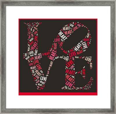 Love Quatro Heart - S111b Framed Print