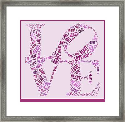Love Quatro - Heart - S44b Framed Print by Variance Collections