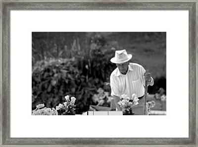 Love Framed Print by Ramon Fernandez