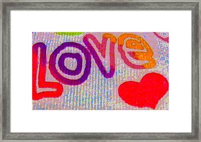 Love Framed Print by Rebecca Flaig