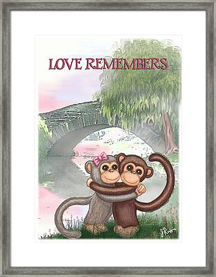 Love Remembers Framed Print by Jerry Ruffin