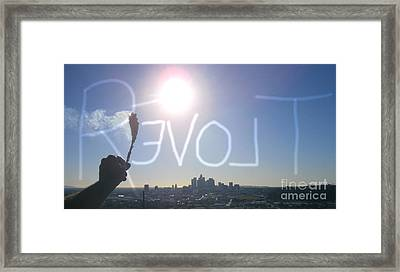 Love Revolt Framed Print by Drew Shourd