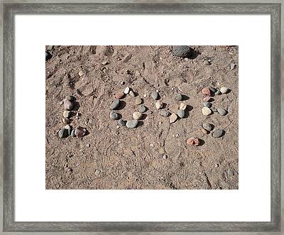 Love Rocks Framed Print