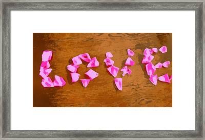 Love Rose Petals Pop Art Framed Print by Dan Sproul