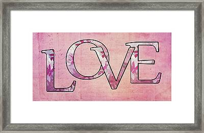 Love - S0102t Framed Print by Variance Collections
