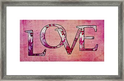 Love - S0103t Framed Print