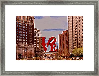 Love Sculpture - Philadelphia - 2 Framed Print
