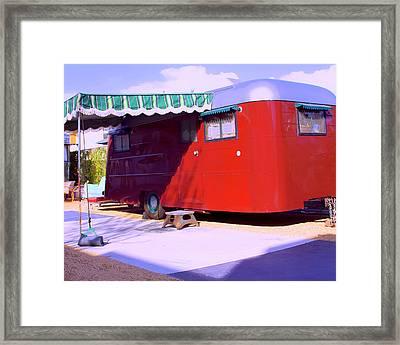 Love Shack Palm Springs Framed Print by William Dey