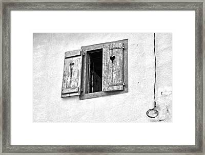 Love Shutters Framed Print by Georgia Fowler