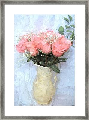 Love Silently - Flower Art Framed Print