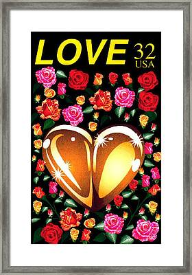 Love Stamp Framed Print