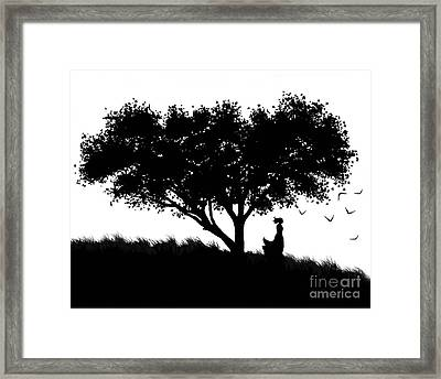 Love Stands Waiting Framed Print by Robert Foster