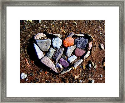 Love Stones Framed Print