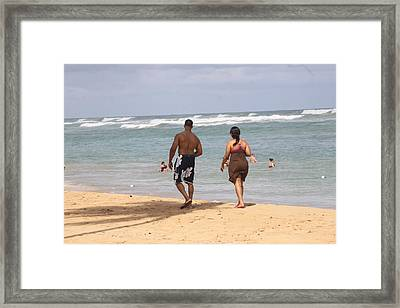 Love Stroll Framed Print