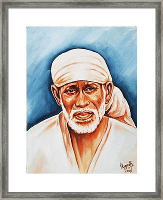 Framed Print featuring the painting Love Supreme-baba by Ragunath Venkatraman