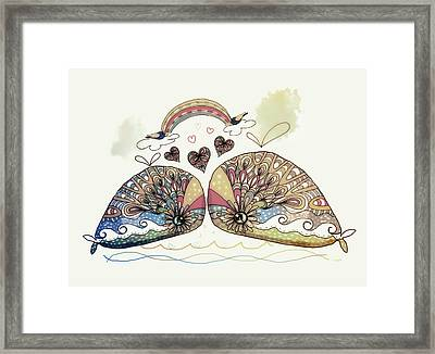 Love Sweet Love Framed Print by Karin Taylor