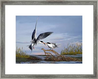 Framed Print featuring the digital art Love by Thanh Thuy Nguyen