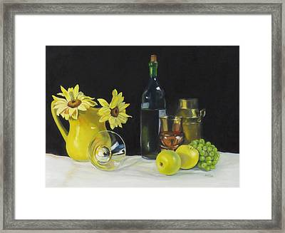 Love That Yellow Framed Print by Jean Costa