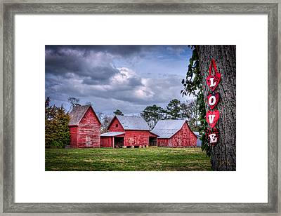 Love The Barns At Windsor Castle Framed Print by Williams-Cairns Photography LLC