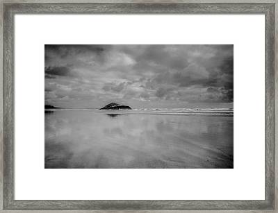 Love The Lovekin Rock At Long Beach Framed Print