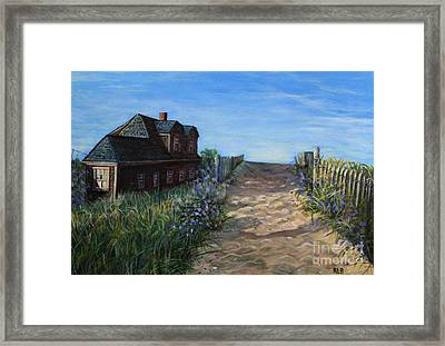 Framed Print featuring the painting Love The Old Cottage by Rita Brown