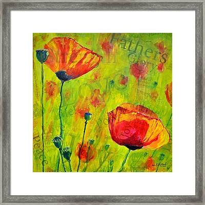 Love The Poppies Framed Print