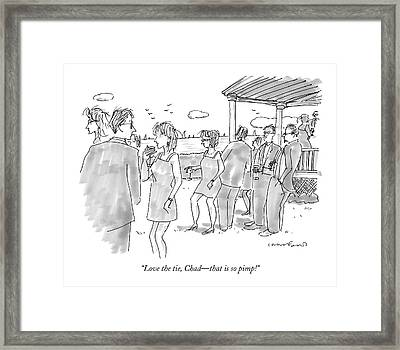 Love The Tie Framed Print by Michael Crawford