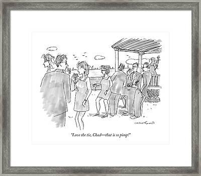 Love The Tie Framed Print