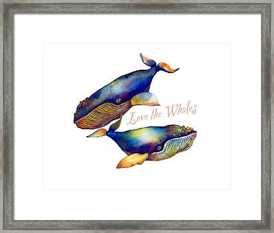Love The Whales Framed Print by Michelle Scott