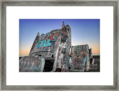 Love To All Cadillac Ranch Framed Print