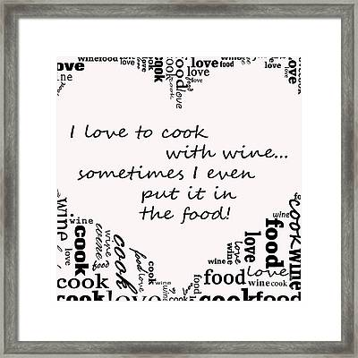 Love To Cook Framed Print