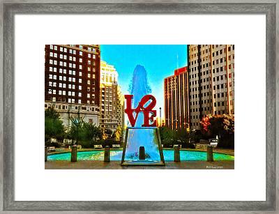 Love Town Framed Print