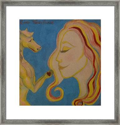 Love Transforms Framed Print by Felicia Roberts