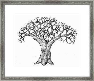 Love Tree Framed Print